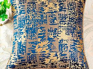 Купить подушку Asabella D6-5, золото на тёмно-синем