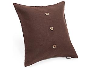 Декоративная подушка Helgi Home Бейсик, коричневый