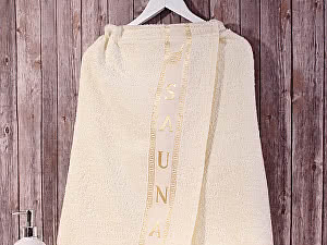 Купить полотенце Dome Harmonika с вышивкой 70х140 см, молочный