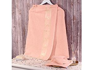 Купить полотенце Dome Harmonika с вышивкой 70х140 см, чайная роза