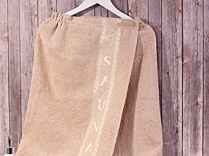 Купить полотенце Dome Harmonika с вышивкой 70х140 см, бежевый