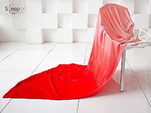 Купить плед Sleep iX Plushy Ombre, красный