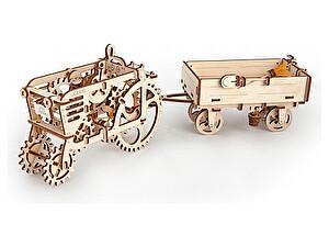 Купить конструктор Ugears Прицеп к трактору