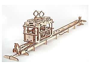 Купить конструктор Ugears Трамвай с рельсами