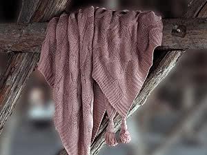Купить плед Sofi De Marko Вязка, розовый