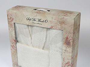 Купить халат Sofi De Marko Linda L-XL с полотенцем, кремовый