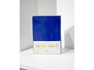 Простыня Sofi De Marko Трикотажная 160-180х200 см с наволочками, синий парламент, на резинке