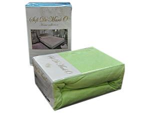Купить простынь Sofi De Marko Махровая 160-180х200 см с наволочками, светло-зеленая, на резинке