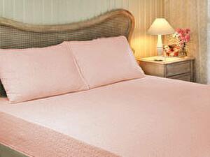 Простыня Tivolyo махровая на резинке, 220х240 см, розовая