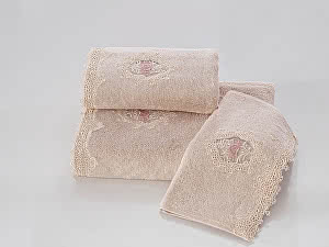 Купить полотенце SoftCotton Destan 32х50 см, пудра