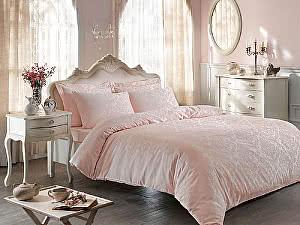 Жаккардовое постельное белье Tivolio Bambura, розовое