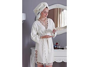 Купить полотенце Tivolyo Bianca S-M с полотенцем 50х100 см, белый