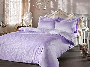 Жаккардовое постельное белье Tivolio Bambura, лиловое