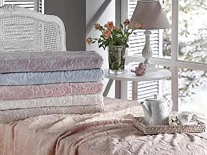 Комплект Tivolyo Baroc с покрывалом, фиолетовый