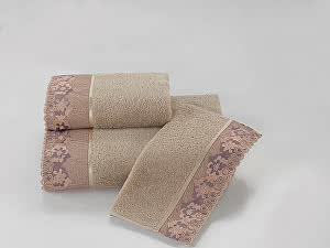 Купить полотенце SoftCotton Lalezar 85х150 см, бежевый