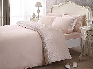 Постельное белье Tivolyo Delux Marlow, розовый