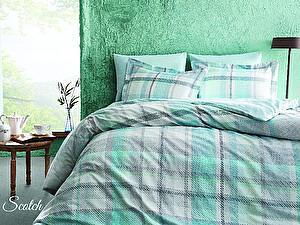 Постельное белье Tivolyo Delux Scotch, зеленый