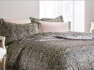 Купить постельное белье Tivolyo Velvet, зеленый
