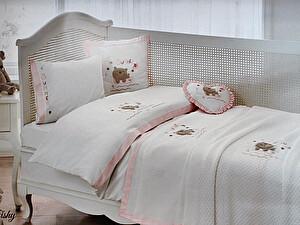 Постельное белье Tivolyo Fishy Bebe с покрывалом, розовый
