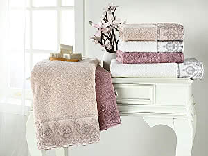 Купить полотенце Tivolyo Lina, бежевый