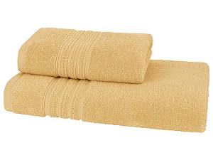 Купить полотенце SoftCotton Aria 75х150 см, желтый