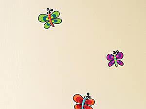 Купить картину Урбаника Настенный стикер Бабочки и улитки