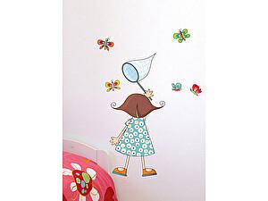 Купить картину Урбаника Настенный стикер Девочка с сачком