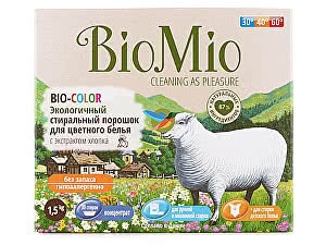 Купить порошок BioMio Порошок стиральный Bio Color с экстрактом хлопка