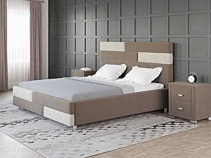 Купить кровать Орма - Мебель Marco (ткань бентлей) 140х190