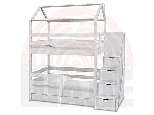 Купить кровать ВМК-Шале Блум домик 80х160