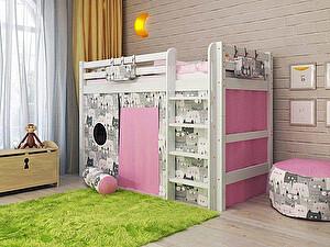 Купить кровать Орма - Мебель Отто-5 полувысокая с прямой лестницей