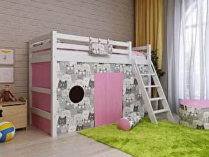 Купить кровать Орма - Мебель Отто-6 полувысокая с наклонной лестницей