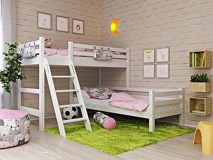 Купить кровать Орма - Мебель Отто-8 угловая с наклонной лестницей
