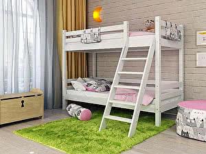 Купить кровать Орма - Мебель Отто-10 двухъярусная с наклонной лестницей