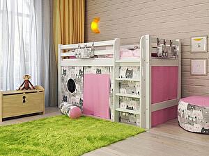 Купить кровать Орма - Мебель Отто-11 низкая с прямой лестницей