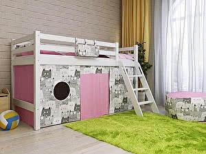 Купить кровать Орма - Мебель Отто-12 низкая с наклонной лестницей