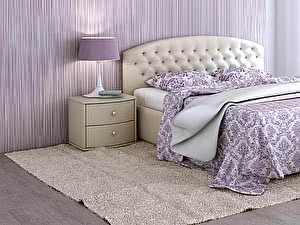 Купить кровать Moon Trade Пальмира Модель 380 (экокожа) с основанием