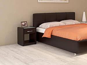 Купить кровать Moon Trade Птичье гнездо Модель 381 (экокожа) с основанием