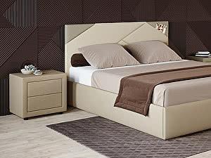 Купить кровать Moon Trade Альба 140 Модель 1206 (бежевый) с подъемным механизмом