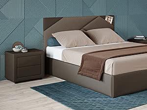 Купить кровать Moon Trade Альба 140 Модель 1206 (коричневый) с подъемным механизмом