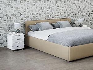 Купить кровать Moon Trade Прима 140 Модель 1200 (бежевый) с основанием