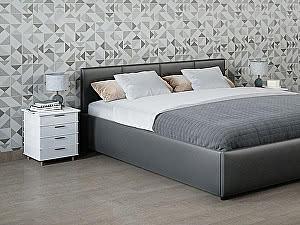 Купить кровать Moon Trade Прима 160 Модель 1200 (серый) с основанием