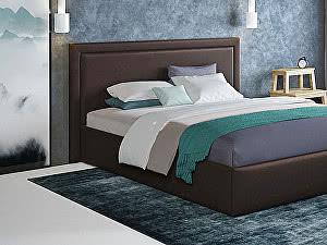 Купить кровать Moon Trade Паола 140 Модель 1201 (коричневый) с основанием