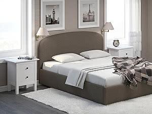 Купить кровать Moon Trade Лия 140 Модель 1205 с основанием (коричневый)