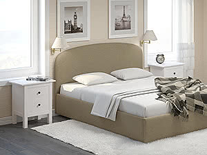 Купить кровать Moon Trade Лия 160 Модель 1205 с основанием (бежевый)