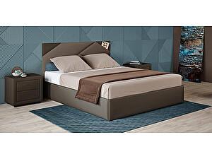 Купить кровать Moon Trade Альба 140 Модель 1206 (коричневый) с основанием
