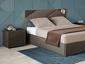 Купить кровать Moon Trade Альба 160 Модель 1206 (коричневый) с основанием
