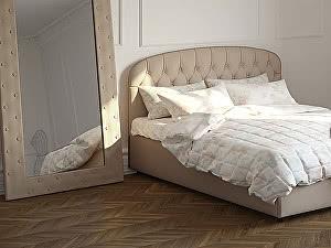 Кровать Moon Trade Бьянка 160 Модель 1207 (бежевый) с основанием