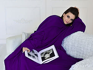 Купить плед Sleepline* фиолетовый с рукавами