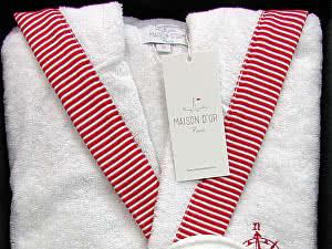 Купить халат Maison d'Or Marine мужской с капюшоном с тапками
